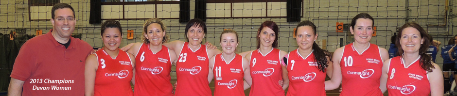 Devon Ladies 2013 South West Volleyball Association Champions