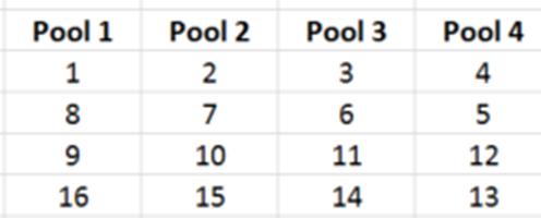 standard pool format