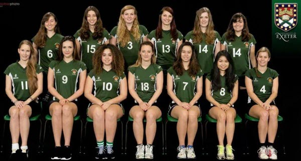 Exeter University BUCS Women's Volleyball 2013-14
