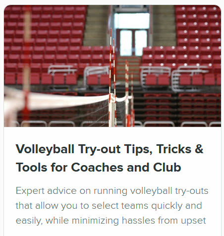 Volleyball Coaching Courses - Tryout Planning